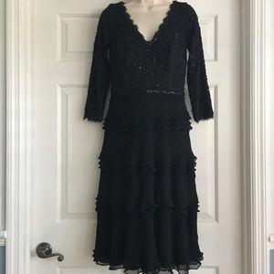 Tadashi Collection Silk Beaded Cocktail Dress